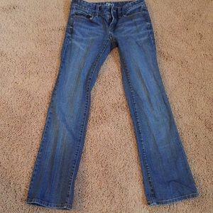 Loft 0P original boot denim jeans medium wash